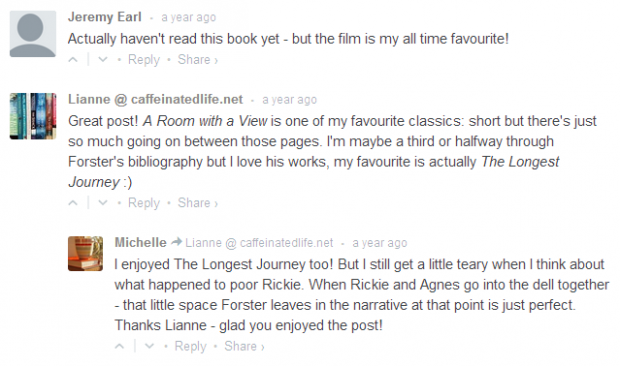 Friday Faves  A Room with a View by EM Forster   ANNABEL SMITH