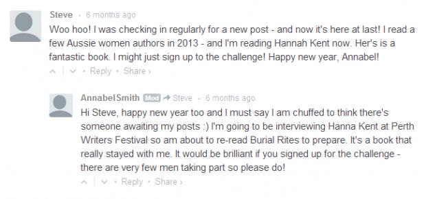 Australian Women Writers Challenge Round Up   ANNABEL SMITH