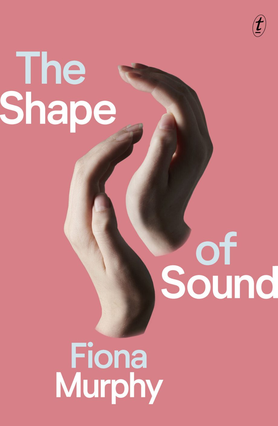 Book cover image: 2 cupped hands facing each other on a pink background